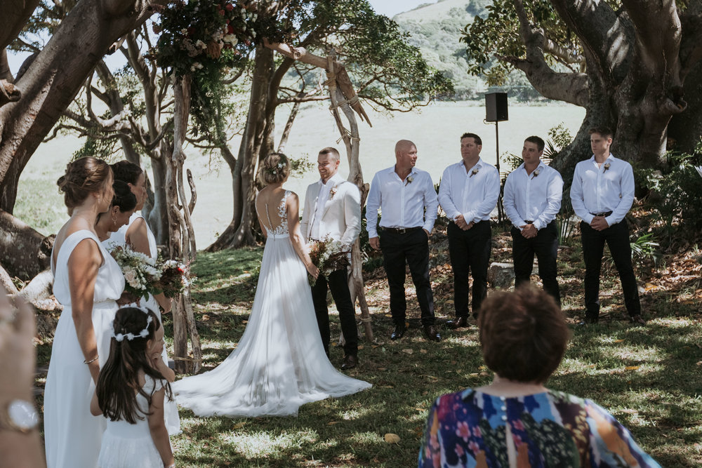 Wedding photo. Bush Bank Kiama. South Coast wedding photography