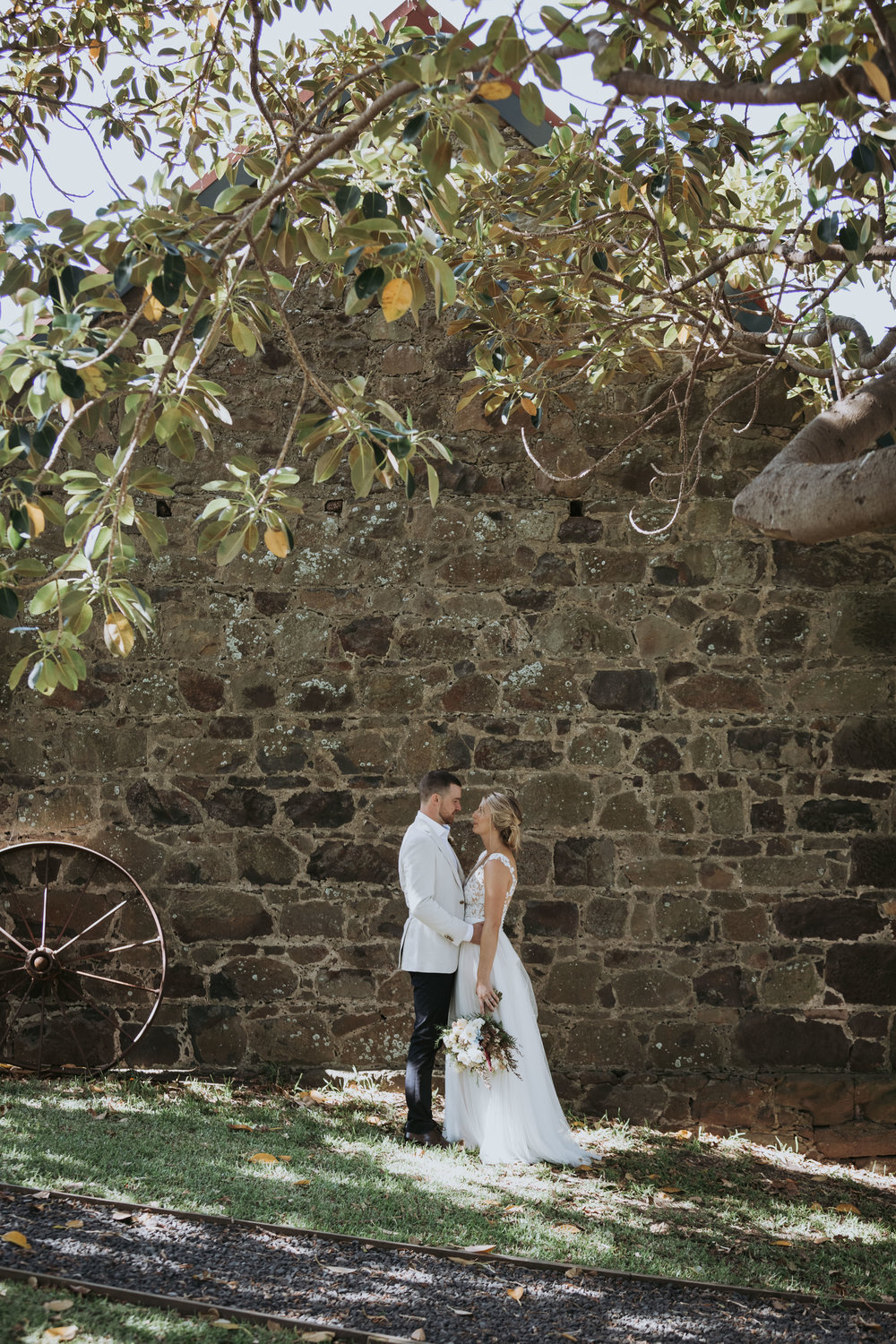 Bridal photo of groom and bride. Natural, relaxed wedding photography Kiama