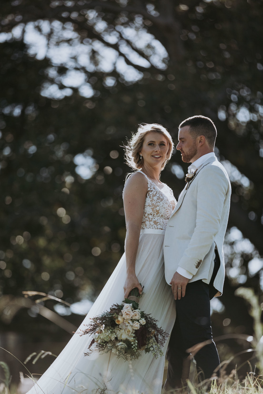 Beautiful photo of bride and groom. Natural, relaxed wedding photography Kiama. South Coast wedding.