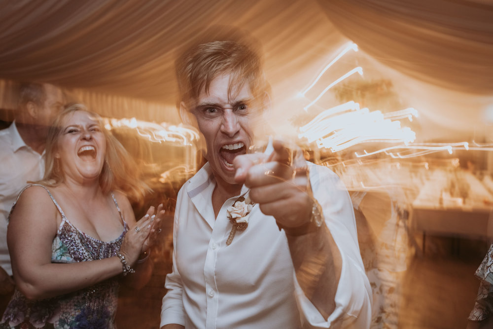 Awesome wedding dance floor photo. South Coast wedding photographer.