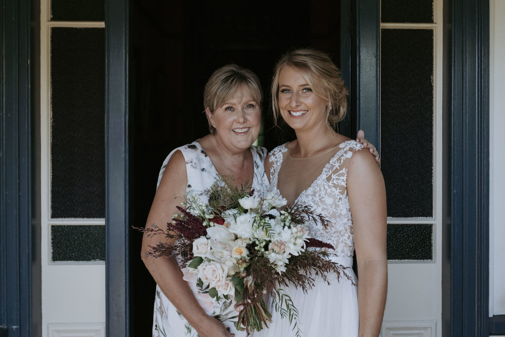 Mother of the bride with bride photo. Natural, relaxed wedding photography Kiama