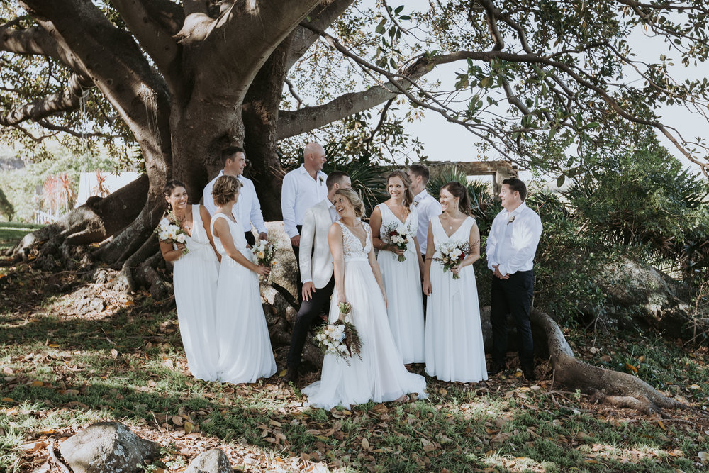 Bridal party photo. South coast wedding.