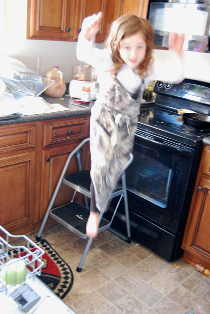 arwen jumps step stool.jpg