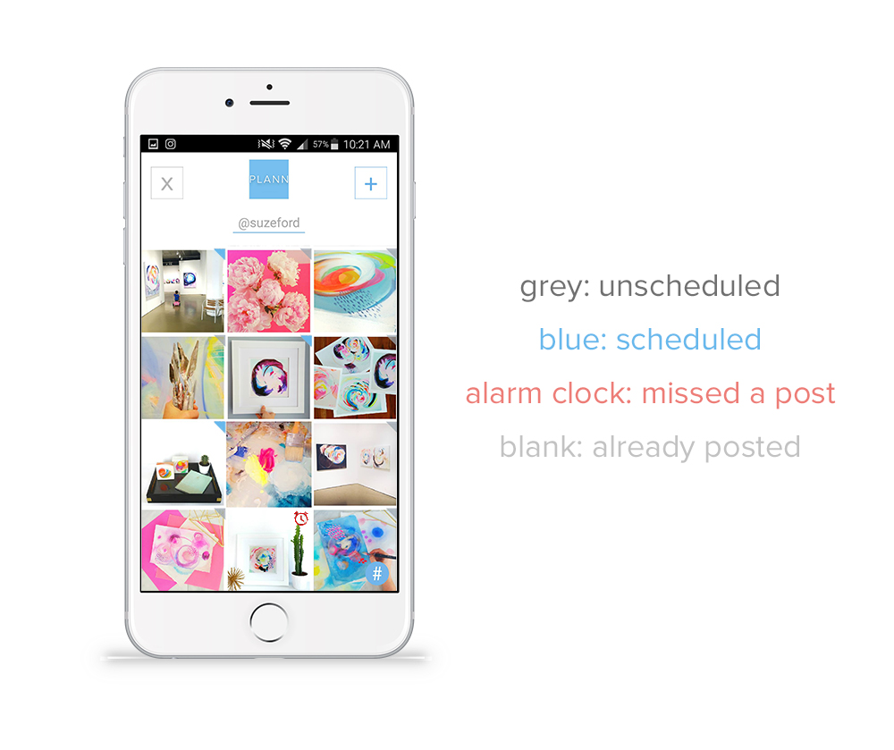 Post to Instagram using Plann, visual planner and scheduler with drag and drop feature