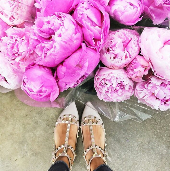 valentino shoe cliche on Instagram