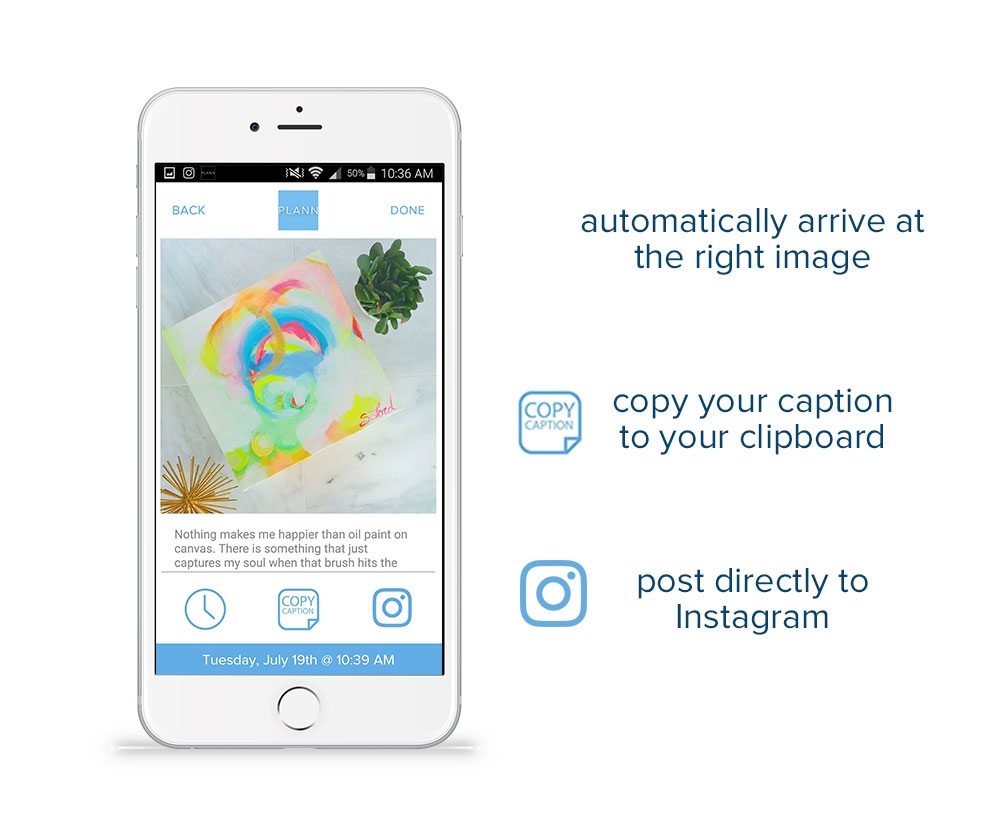 How to post to instagram app
