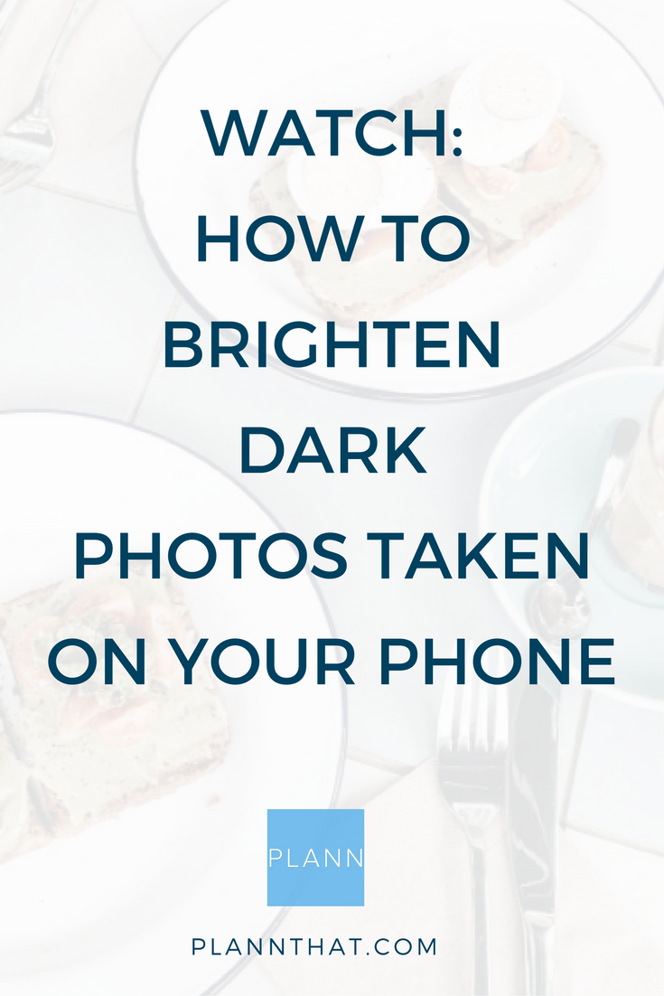 Brighten photos