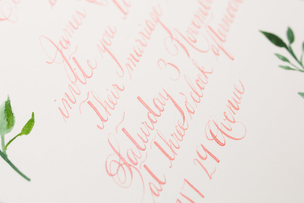 Absolutely swooning over the shimmer on this rose gold ink.