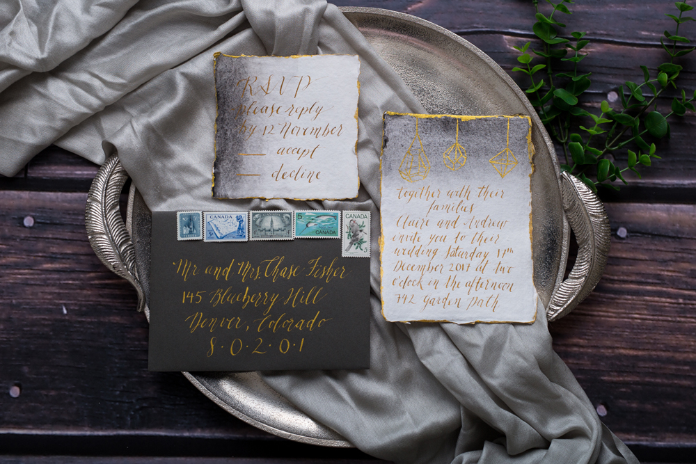 Calgary Calligrapher Calligraphy Luxury Wedding