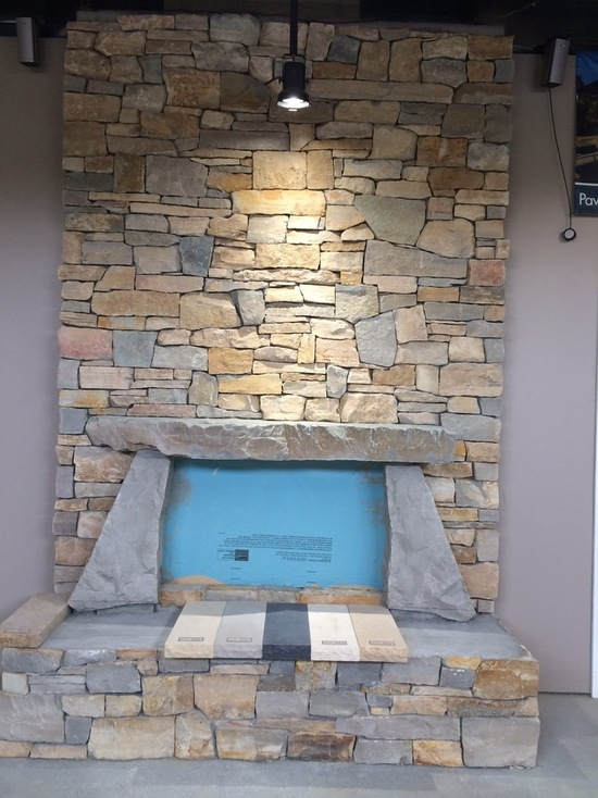 indoor fireplace natural look