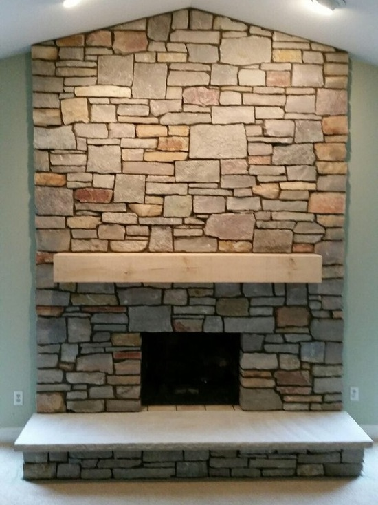 mantle on a fireplace