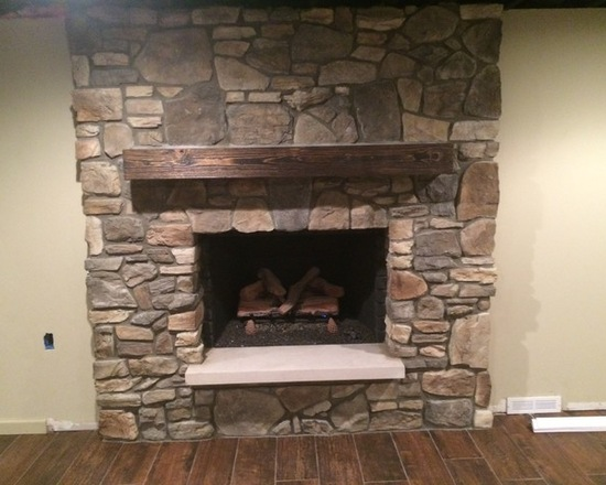 fireplace natural stone