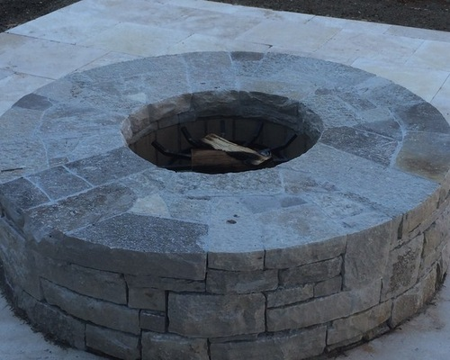 Smooth top round firepit