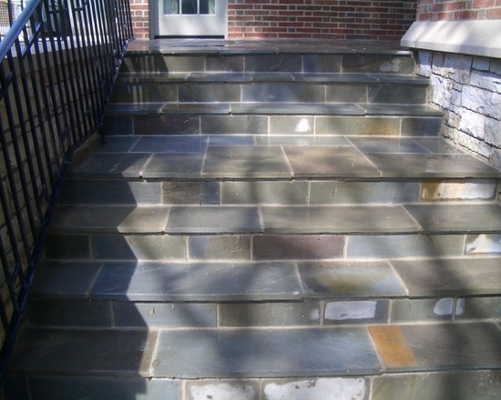 bluestone steps to front door
