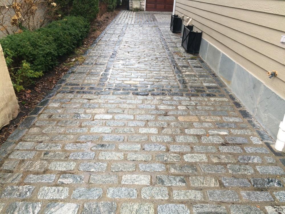 Shining brick walkway