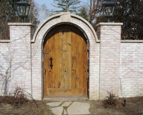 Brick Gate Wooden Door
