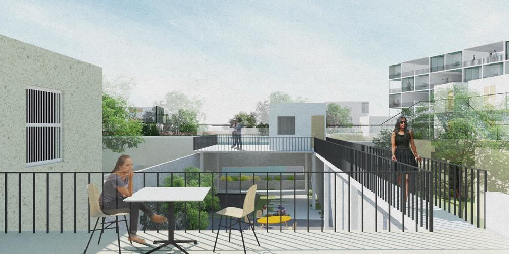 Terrace View of Backyard Addition House