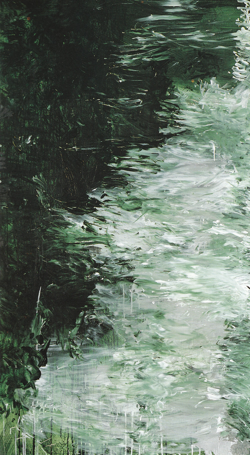Detail of Cy Twombly Painting