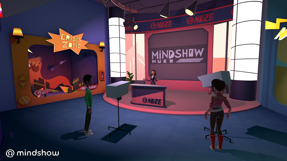Mindshow Nuze TV Studio:  Shoot your own news segment in VR!