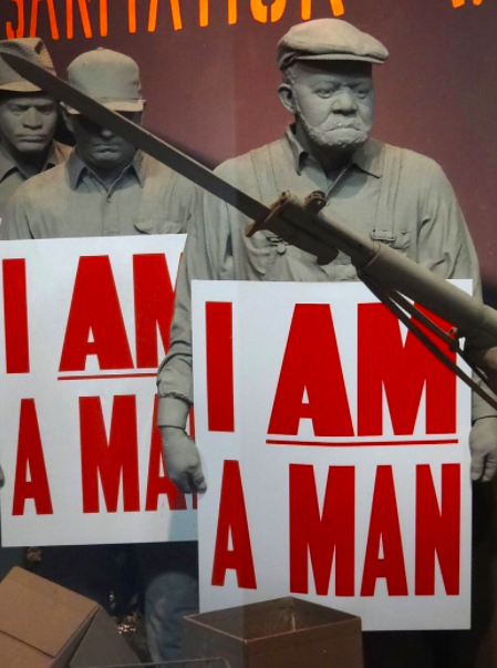 I Am a Man - Diorama of Memphis Sanitation Workers Strike - National Civil Rights Museum - Downtown Memphis - Tennessee - USA