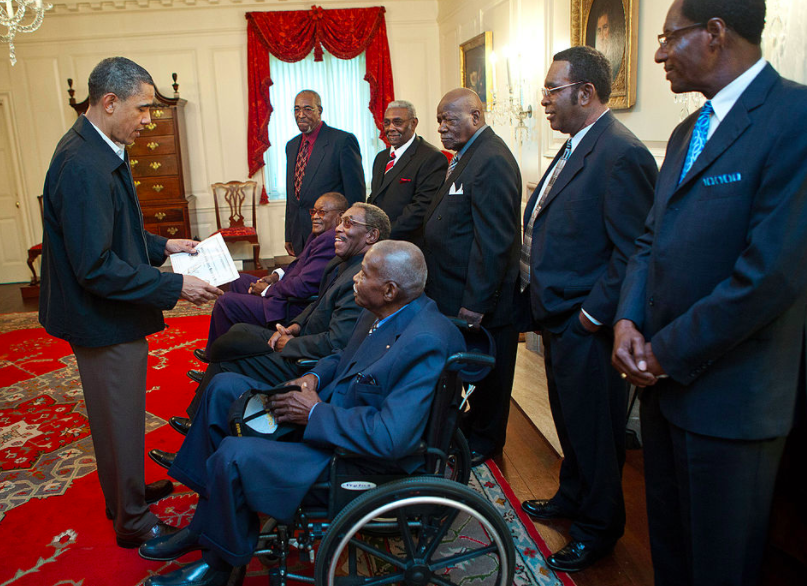 President Obama met former members of the strike in 2011