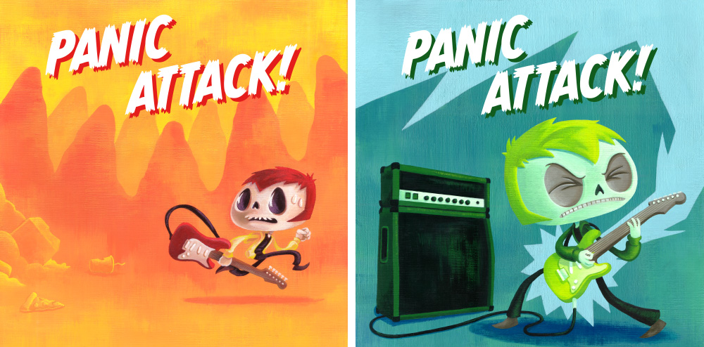 Panic Attack! chapter covers. Acrylic on canvas.