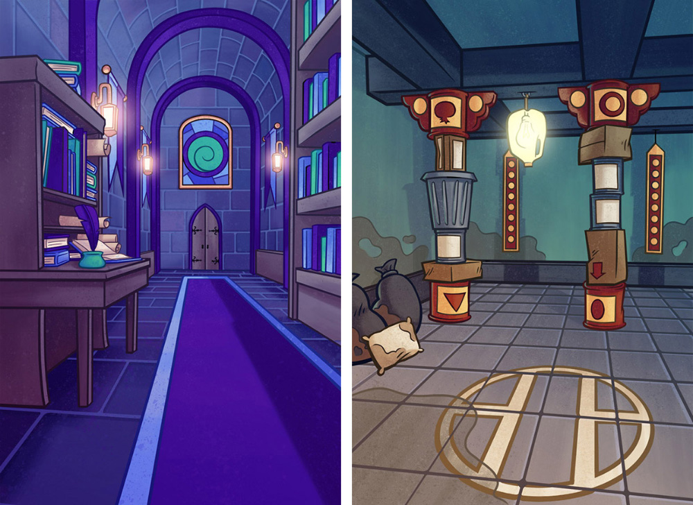 Backgrounds I created for   Spellwood  , a game I also art directed  . iOS/Android game. © SEGA