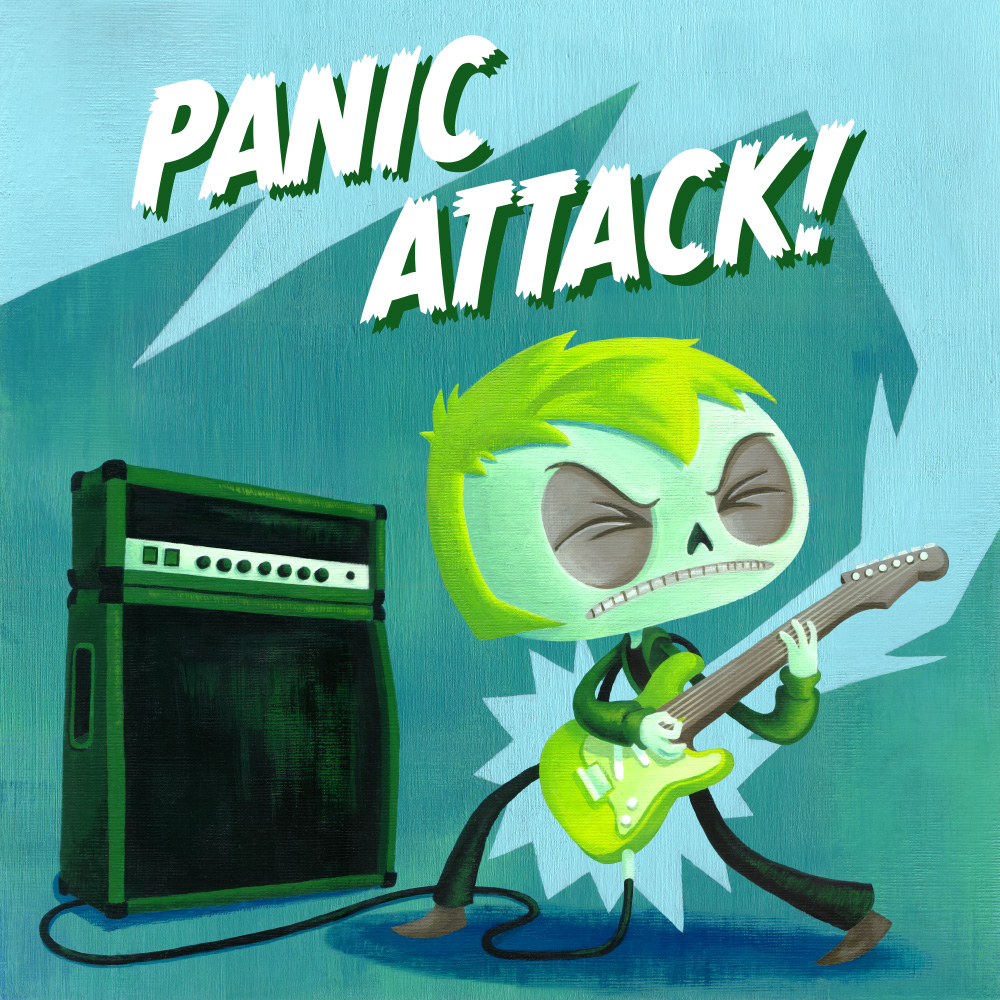 Panic Attack!chapter covers. Acrylic on canvas.