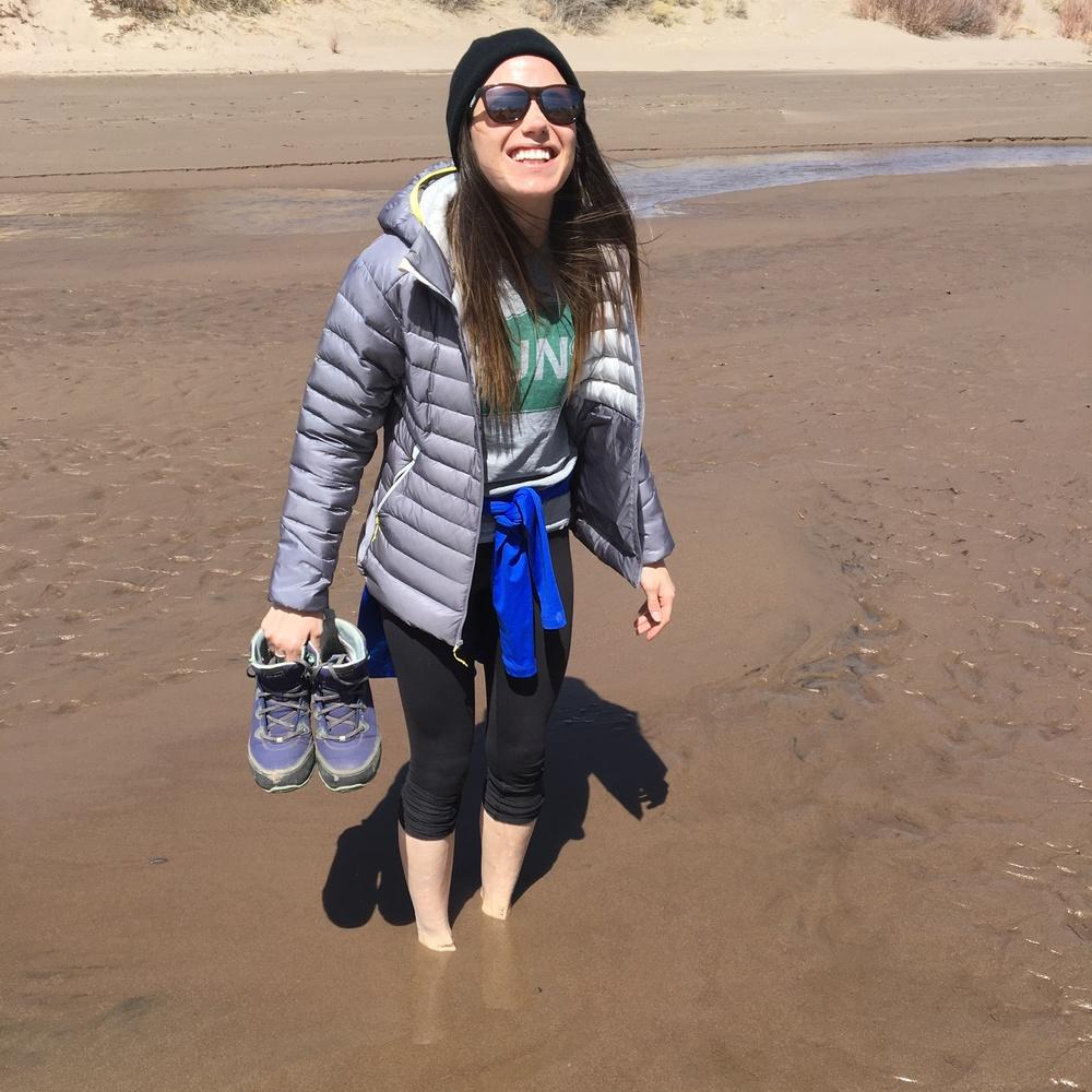 Iris sinking into the sand