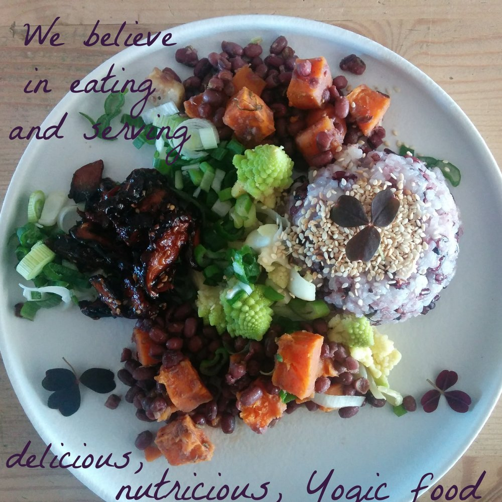 We believe in eating and serving delicious, healthy, yogic food