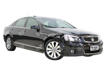 The Holden Caprice, available for your chauffeured car needs. If you need a hotel transfer call us now on 1300 012 013.