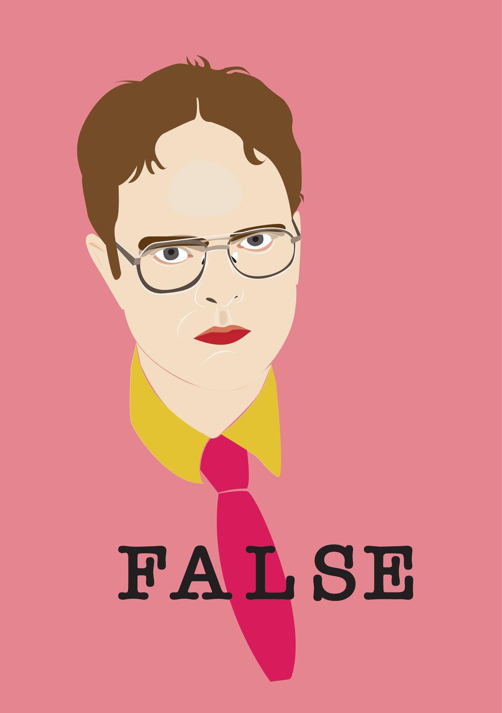 "Illustration Vector ""False"" by Brye Zhane 2017"