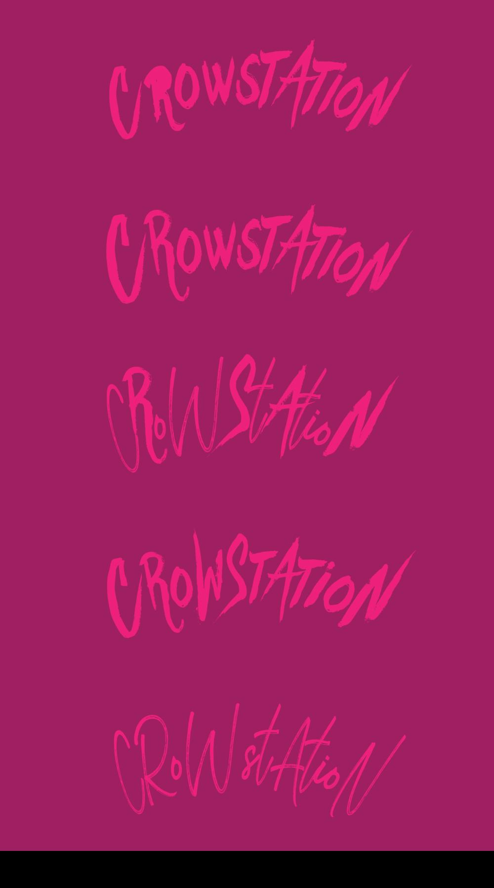 """""""Crowstation"""" Logo Design 2017"""