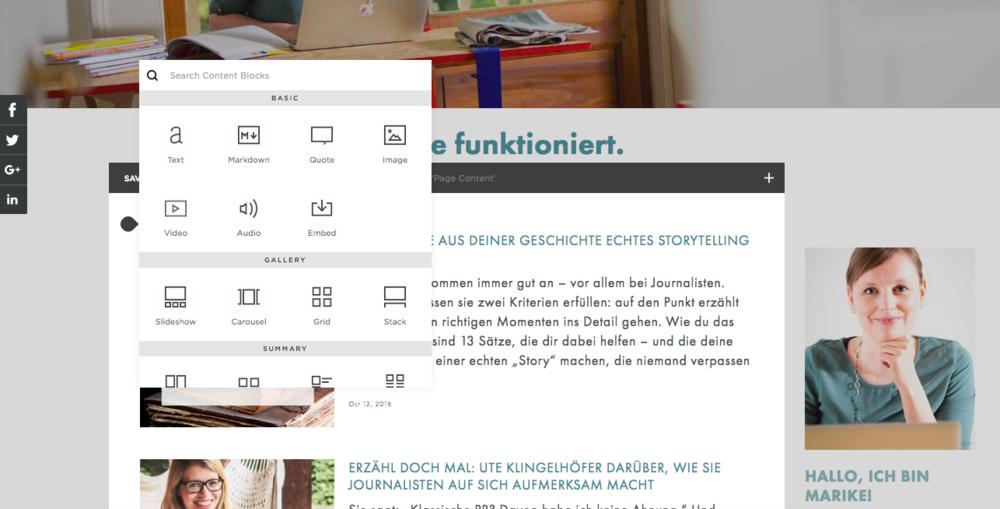 Webseiten-Baukasten Squarespace