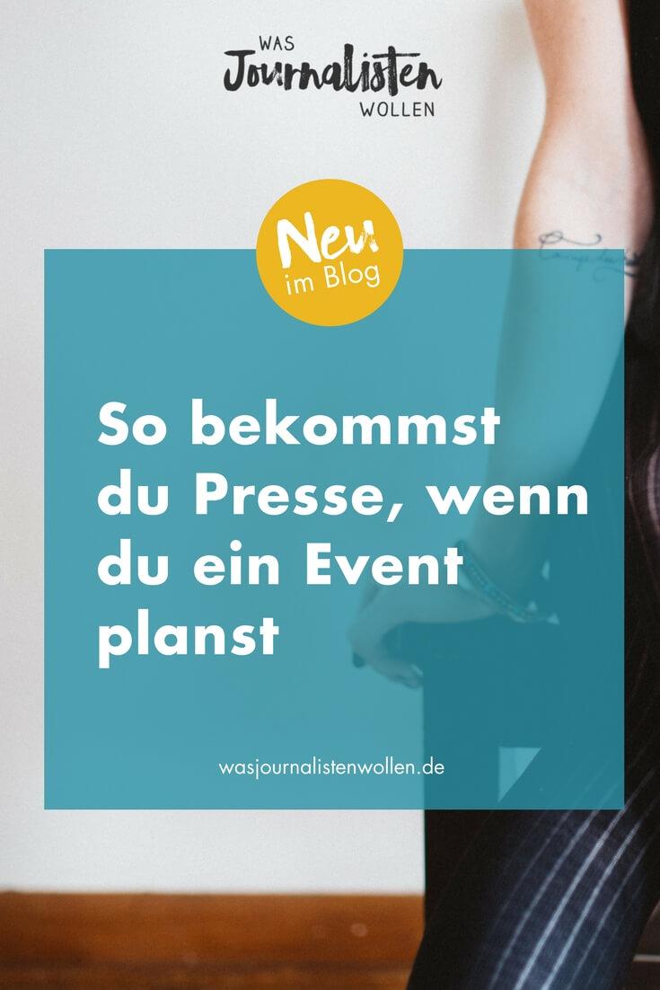 So bekommst du Presse! Teil 3: Wenn du ein Event planst — Tipps für ...