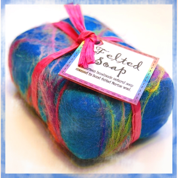 learn to make felted soap