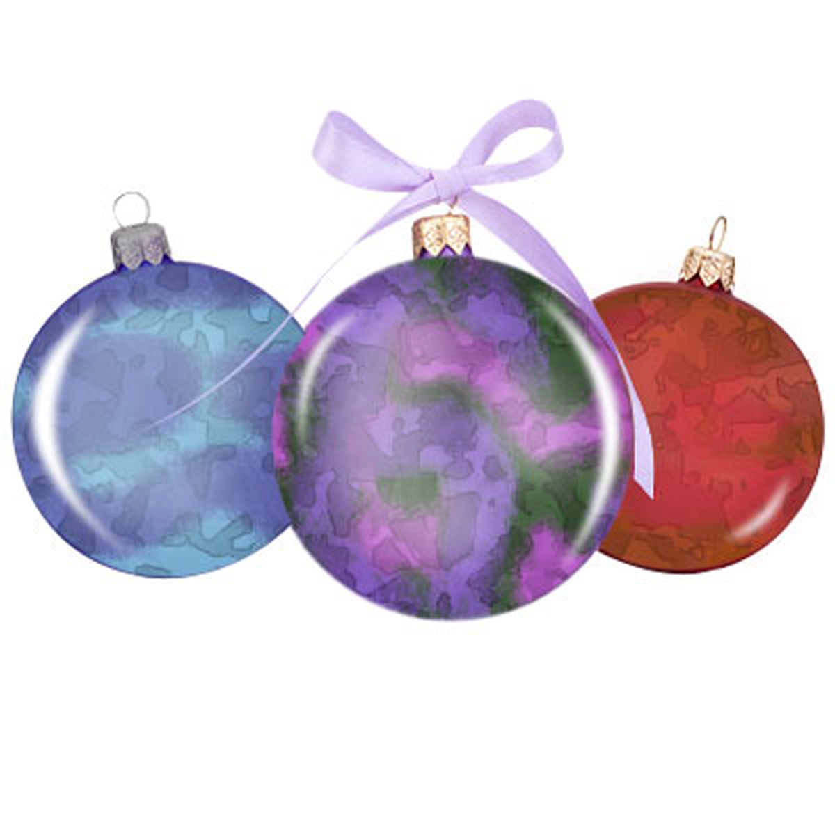 Alcohol Ink Christmas Ornaments.Alcohol Ink Christmas Ornaments Three Sheep