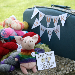Helena is returning to Three Sheep with her trunks overflowing yarn with beautiful yarn and hand knitted garments.