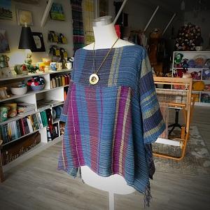 Saori, handwoven top