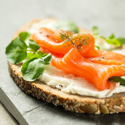 <h2>Smoked Trout Open Sandwich<h2>
