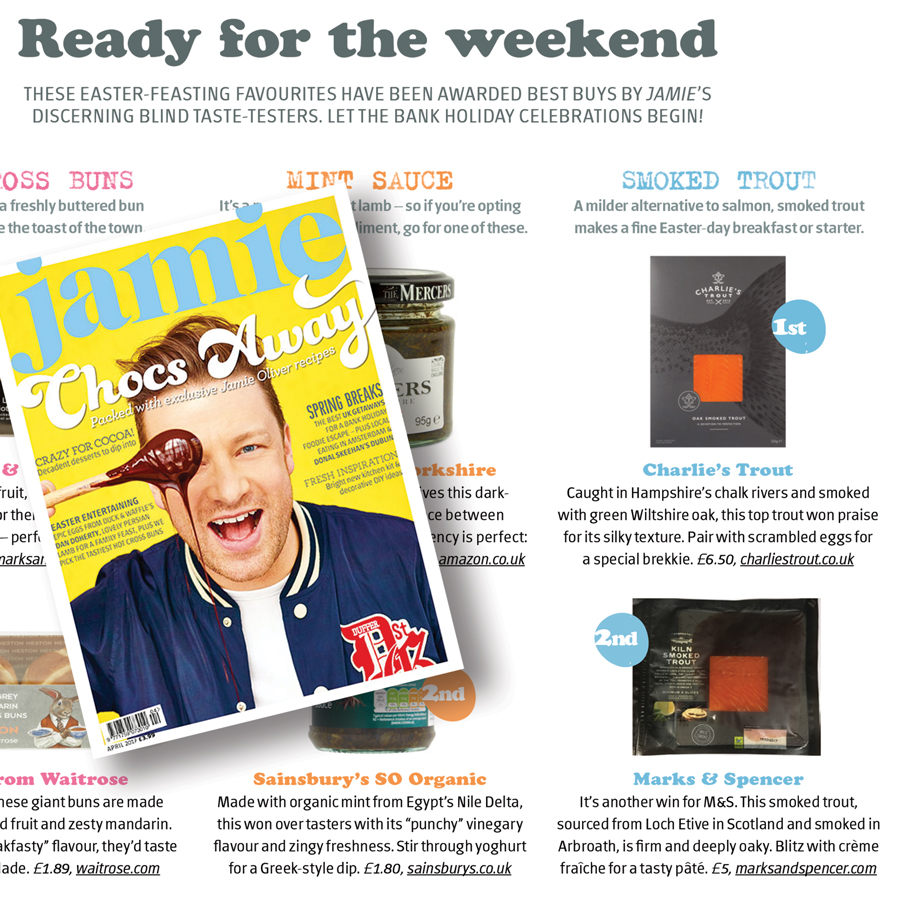 Charlie's Trout in Jamie Magazine