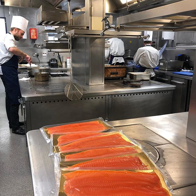 This weekend's delivery of Charlie's Trout arrives with Helene Darroze at The Connaught - very proud! @helenedarrozeconnaught #smokedtrout #charliestrout