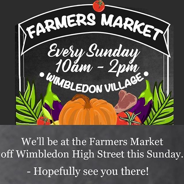 We're heading to the #wimbledonvillagefarmersmarket this Sunday where there'll be lots of delicious produce to buy and try... including Charlie's Trout! 🥦🥕🥖🥚🧀🧁🐟 👉🏻Find us at 35a High Street Wimbledon, SW19 5BY from 10am.  #farmersmarket #london #fresh #producer #sunday #wimbledonvillage #sunshine #outdoor