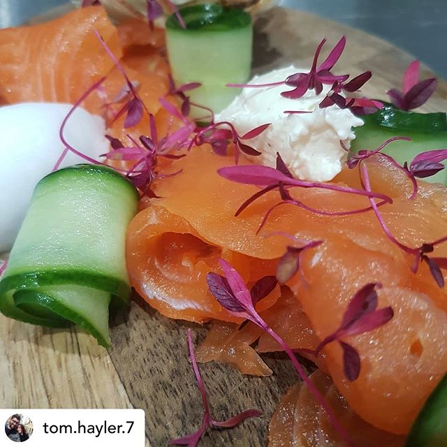 👀Charlie's Trout in action at the marvellous @amberleyblackhorse  Beautiful dish, lovely pic @tom.hayler.7 🤩  #fabulousfood #local #delicious #beautiful #troutandabout  Posted @withrepost • @tom.hayler.7 Our new smoked trout dish #keepingit local #amberley #southdownsway #charliestrout