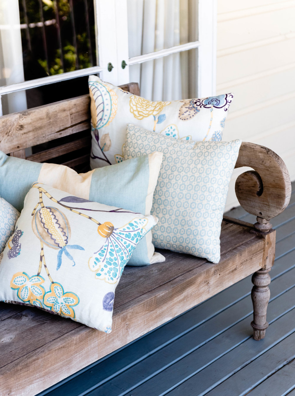 A range of cushions that Sold Out at our sale