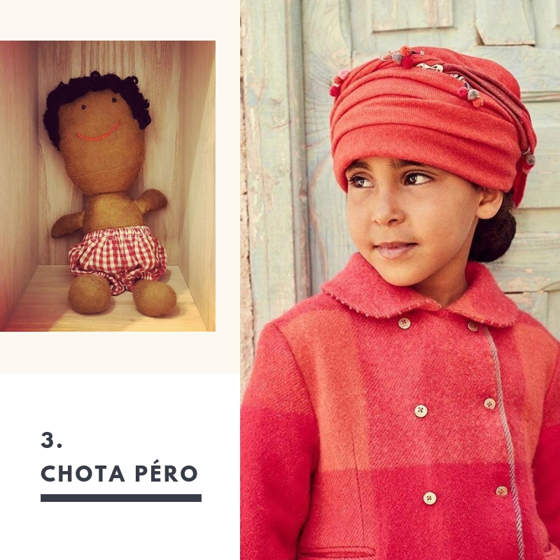 3. Chota Pero. Indian boho chic for little ones. Snuggle up near theChristmas tree in their red plaids.