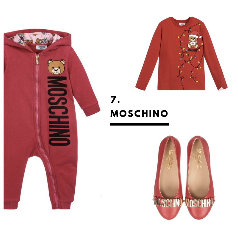 7. Moschino. Because these clothes and shoes light up brighter than fairy lights.