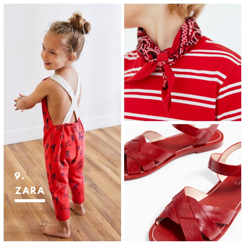 9. Zara. For the little elves who got to look cute and run errands too