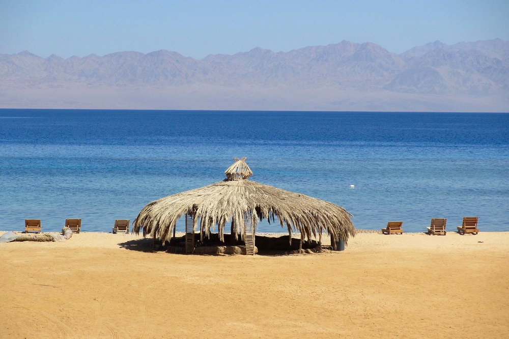 The beach at Yoga Studio Nuweiba.