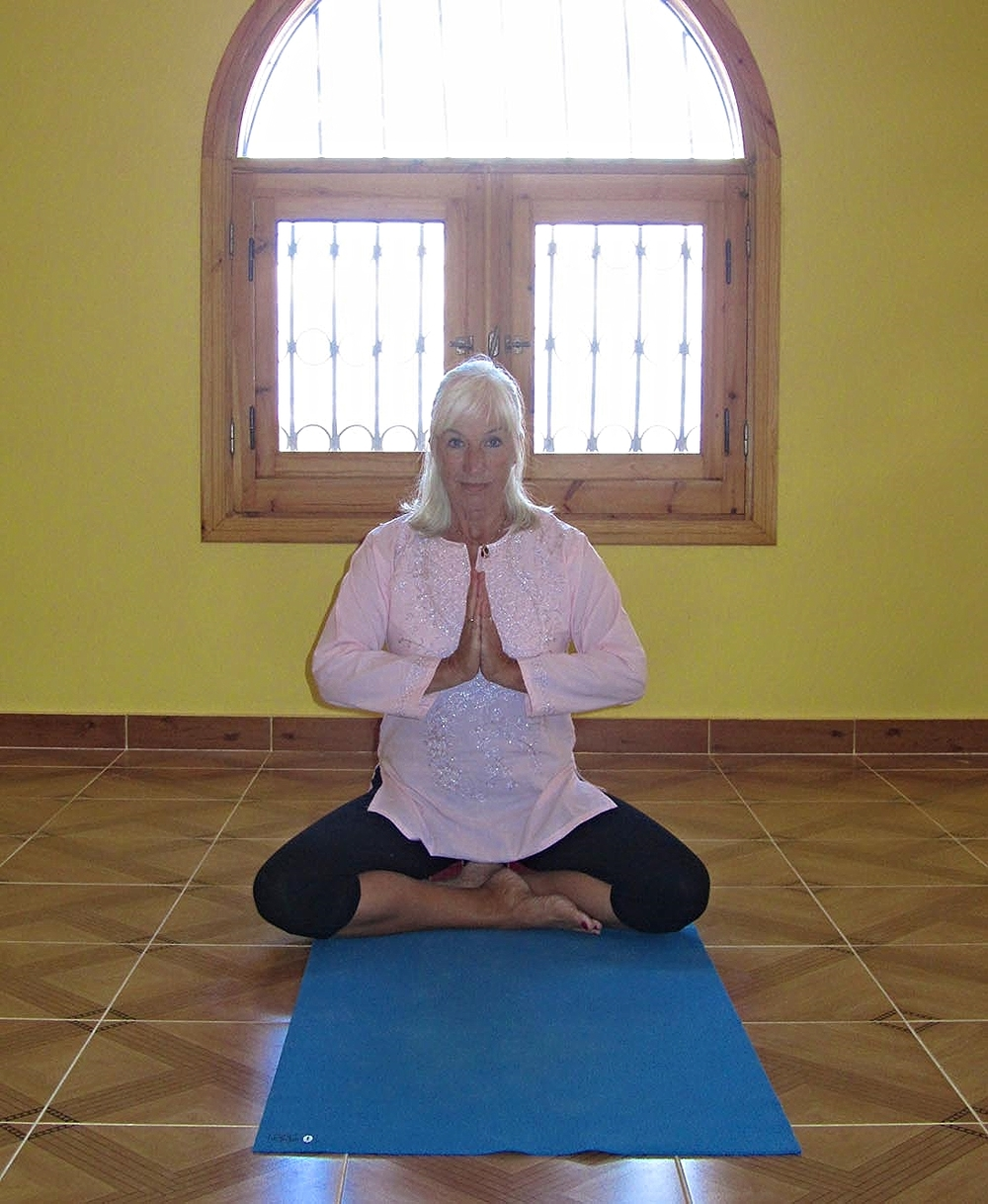 Susan in the Yoga Studio.